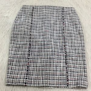 J. Crew blue plaid pencil skirt